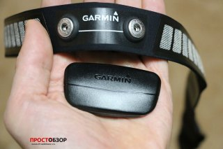 Garmin HRM-RUN  - площадка измерения данных - вид спереди