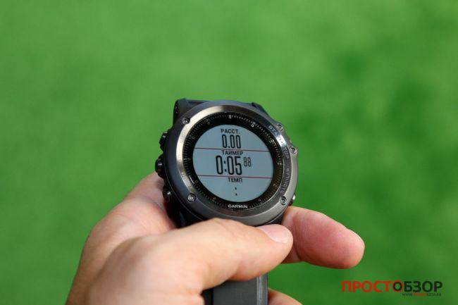 Поле для пробежки в часах Garmin Fenix 3 HR после подключения пульсометра Garmin HRM-RUN