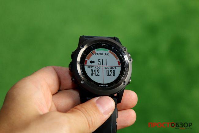 Поле Вертикальное соотношение для пробежки в часах Garmin Fenix 3 HR после подключения пульсометра Garmin HRM-RUN