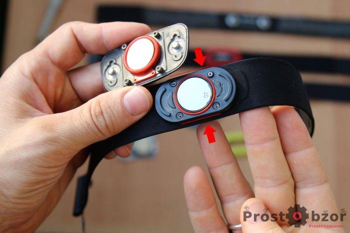 Металлические крепления резьбы площадки кардиодатчиков Garmin