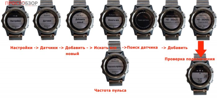 Как добавить кардио-монитор Garmin HRM Swim к часам Fenix 3