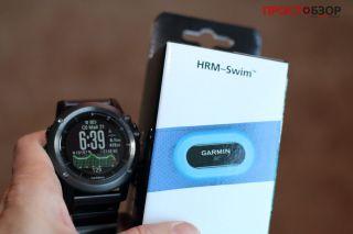 часы Garmin Fenix 3 и коробка Garmin HRM Swim