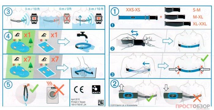 Инструкция по работе с пульсометром Garmin HRM Swim