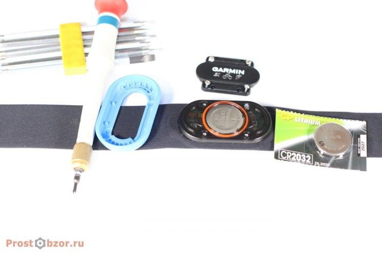 Как поменять батарейку в Garmin HRM-Tri
