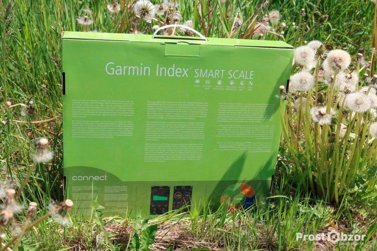Внешний вид коробки весов Garmin Index Scale - вид сзади