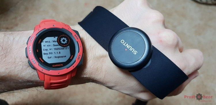Подключение Bluetooth пульсометра Suunto Smart Sensor к часам Garmin Instinct