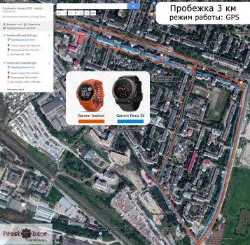 тест Garmin Instinct - только GPS - пробежка по городу