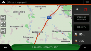 Экран навигации IGO в GPS навигаторе Garmin Monterra