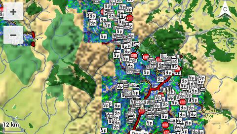 Garmin Monterra - 3D топографическая карта - общий план