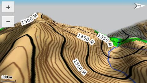 Garmin Monterra - 3D топографическая карта - горы