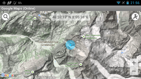 Garmin Monterra - Google карты - рельеф