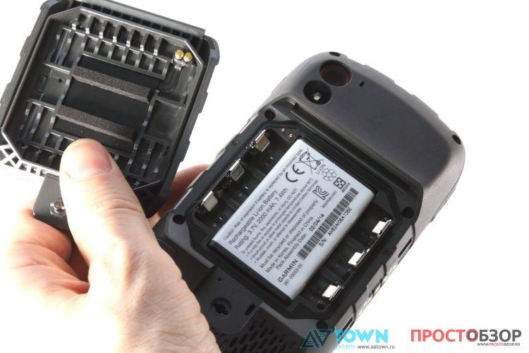 Батарейный отсек и крышка GPS навигатора Garmin Monterra
