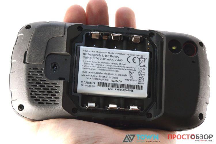 Внешний вид аккумулятора GPS навигатора Garmin Monterra