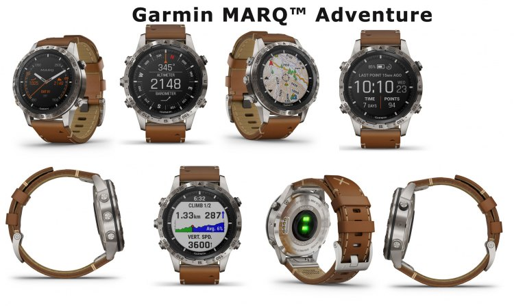 Экраны часов Garmin MARQ Adventure