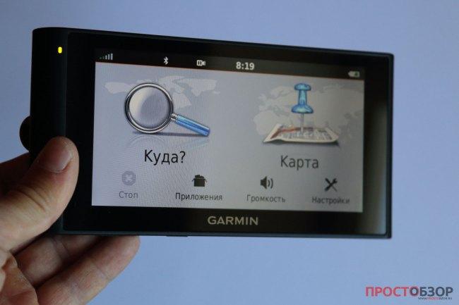 Карты и управление маршрутами в Garmin NuviCam