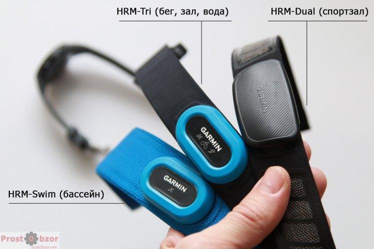 Поддержка нагрудных пульсометров Garmin HRM Tri, Swim, Dual
