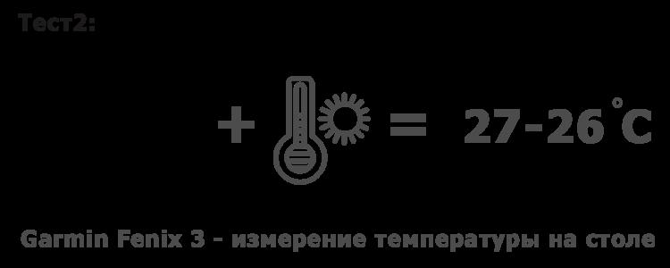 Измерение температуры отдельно на столе  - Garmin Fenix 3