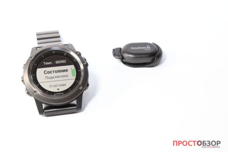Подключение датчика температуры Garmin Tempe - состояние включен датчик
