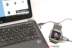 Подключение часов Garmin epix к ПК через USB кабель
