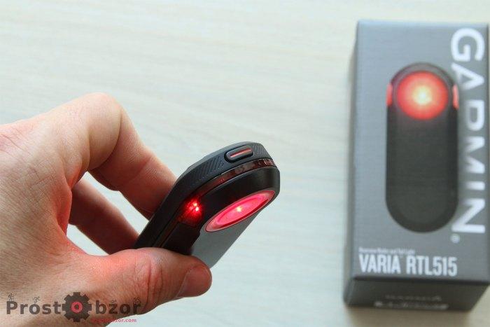 Управление габаратиным красным цветом в  вело радара Garmin Varia RTL515