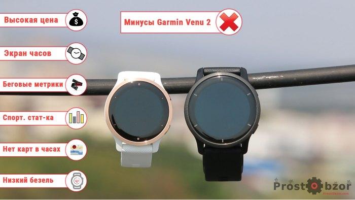 Минусы часов Garmin Venu 2