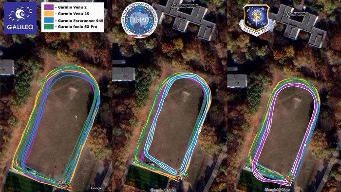 Тест записи треков GPS в часах Venu 2