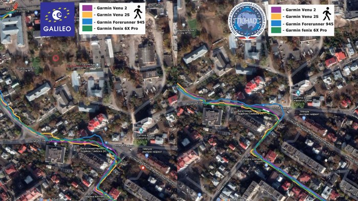 Тест записи треков GPS в часах Venu 2 - ходьба