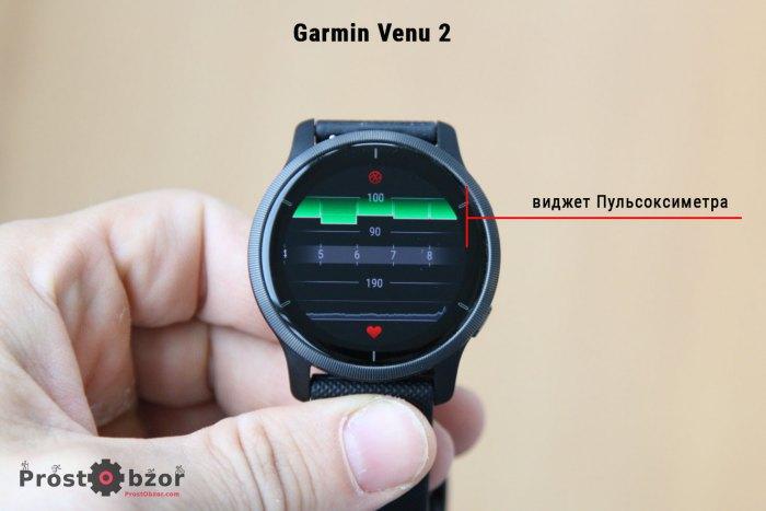 Виджет пульсоксиметра в часах Garmin Venu 2