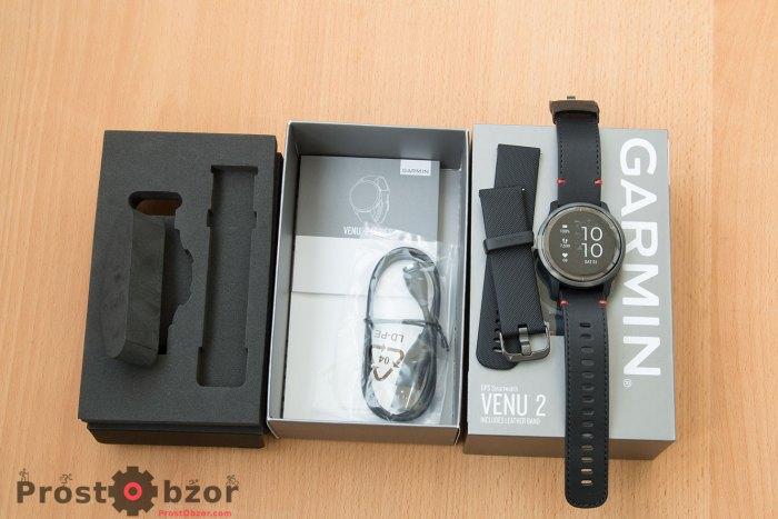 Распаковка часов Garmin Venu 2