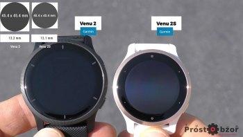 Размеры часов Garmin Venu 2