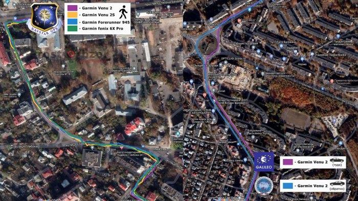 Тест записи треков GPS в часах Venu 2 - поездка на машине