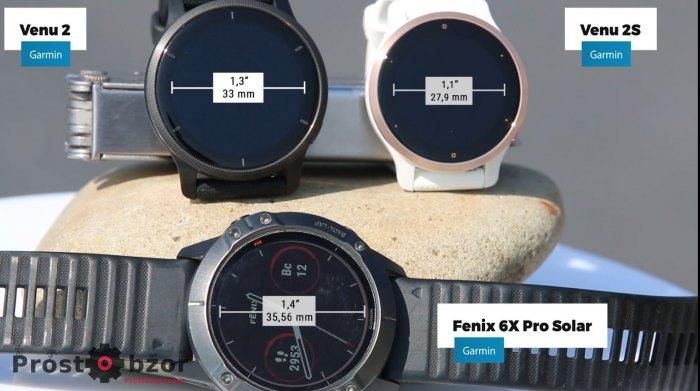 Размер дисплея часов Venu 2