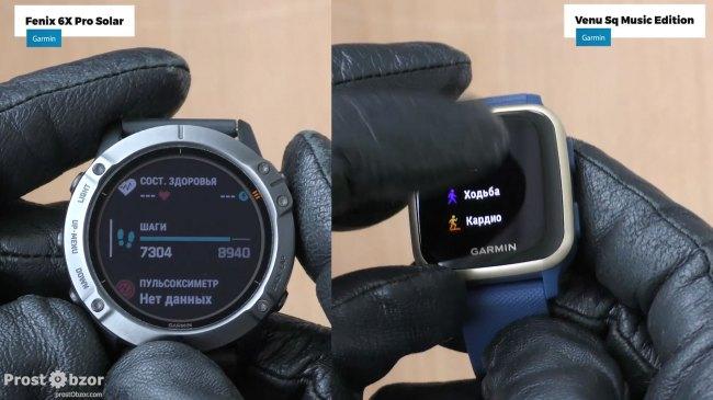Управление 5 кнопками для часов Garmin без тачскрина
