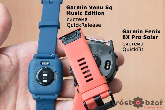 Сравнение крепления ремешков Garmin - QuickFit - Quick Release