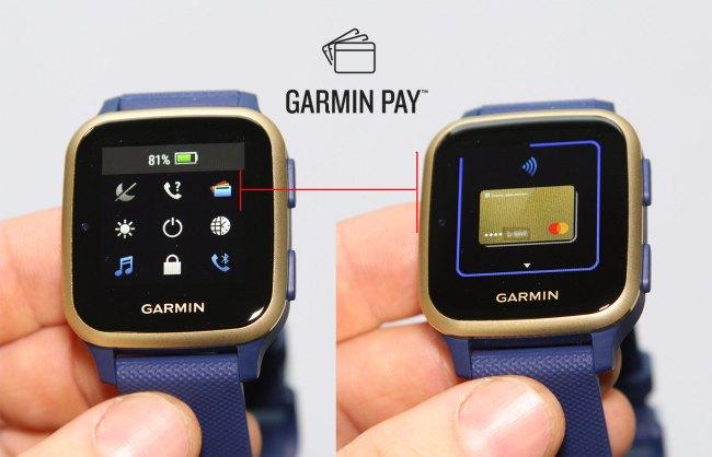 Как работает Garmin Pay в часах Garmin Venu Sq