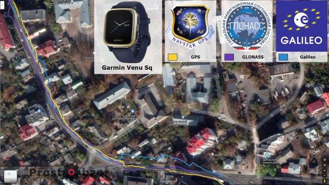 Тест записи GPS в городе - в часах Garmin Venu Sq Music