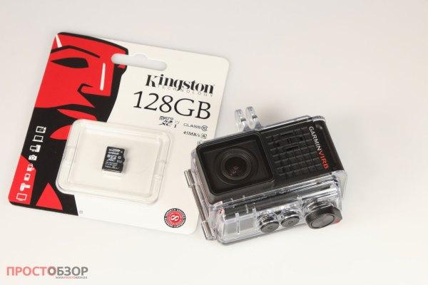 128 Gb microSD карточка для экшн камеры Garmin Virb Ultra 30