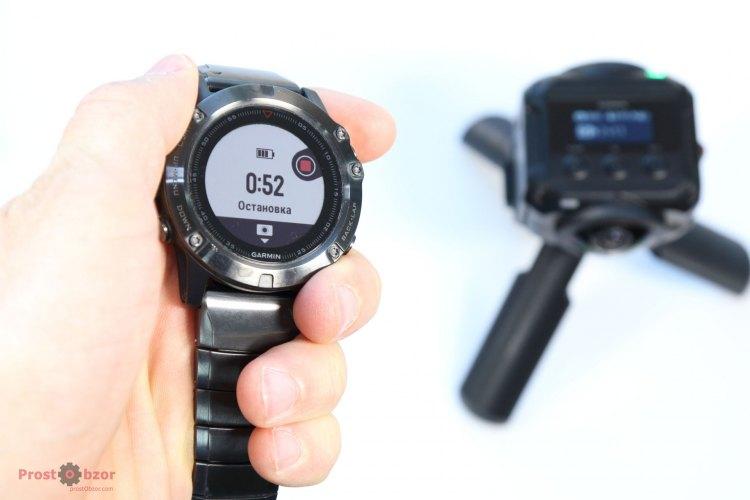 Управление камерой Virb 360 с помощью Fenix 5X
