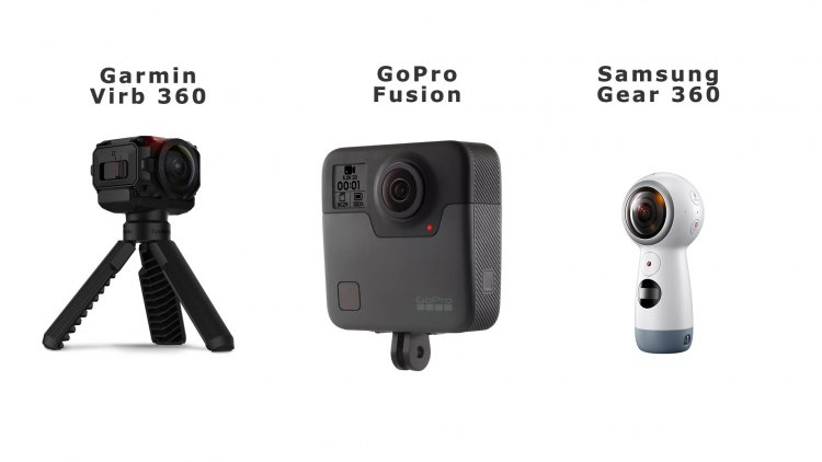 360 градусные камеры от Garmin , GoPro, Samsung