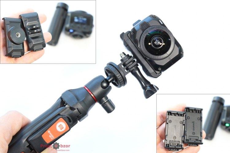 Крепление GoPro в селфи-палке Benro MK10