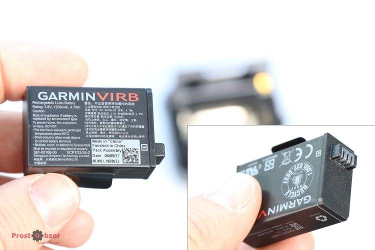 Сравнение аккумуляторов Garmin Virb 360 vs Virb Ultra 30