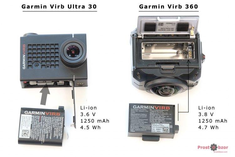 Как установить аккумулятор в Garmin Virb 360 и Virb Ultra 30