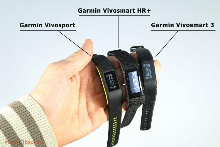 Трекеры активности серии Garmin Vivo для обзора
