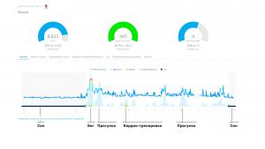 Данные MoveIQ за весь день с учетом активностей