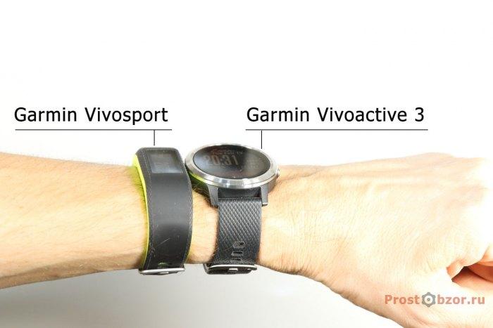 Garmin vivosport vs Garmin vivosport на руке