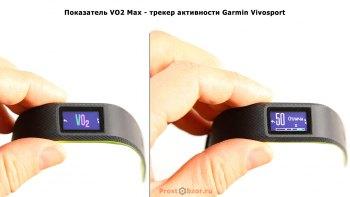 Показатель vo2max в фитнес трекере Garmin Vivosmart 3