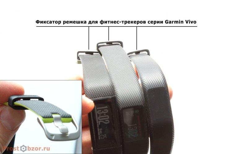 Застежка-фикстор ремешков фитнес-трекеров Garmin