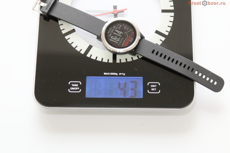 Вес часов Garmin Vivoactive 3
