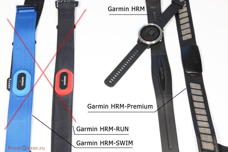 Нагрудные пульсометры для часов Garmin Vivoactive 3