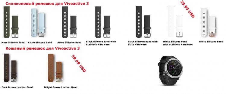 Ремешки для часов Garmin Vivoactive 3